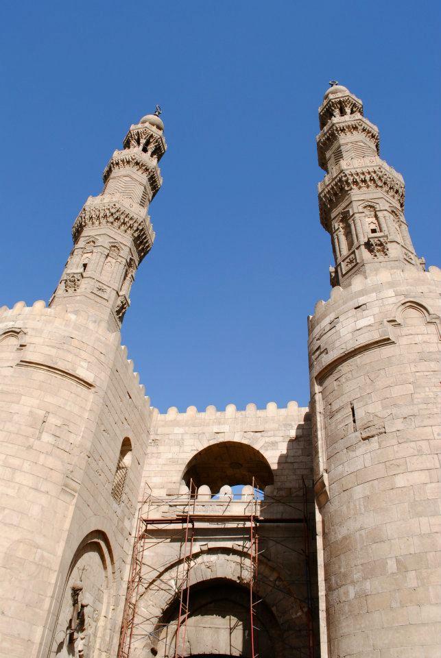 Twin minarets