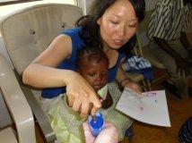 Haiti Joanne and baby