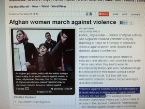 Miami Herald, Afghan Women March Against Violence