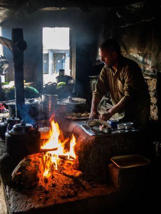 Making naan