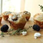 Thyme Chevre Blackberry Muffins