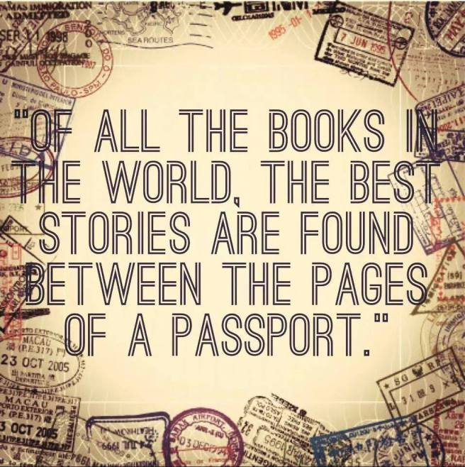 Between the pages of a passport