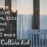 The Earned Fact of the Third Culture Kid