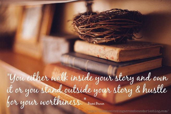 book-shelf brene brown quote