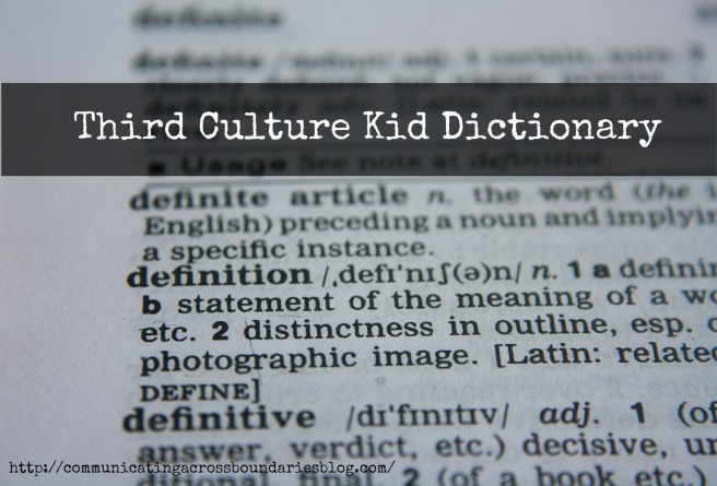 third culture kid dictionary