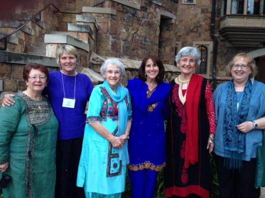 Friendship across miles & years. From left to right Margie Mills, Janet Wachter, Pauline Brown, Marilyn Gardner, Bettie Addleton, Joy Breithaupt