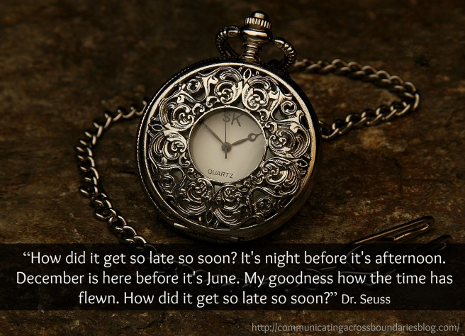 pocket watch with Seuss quote