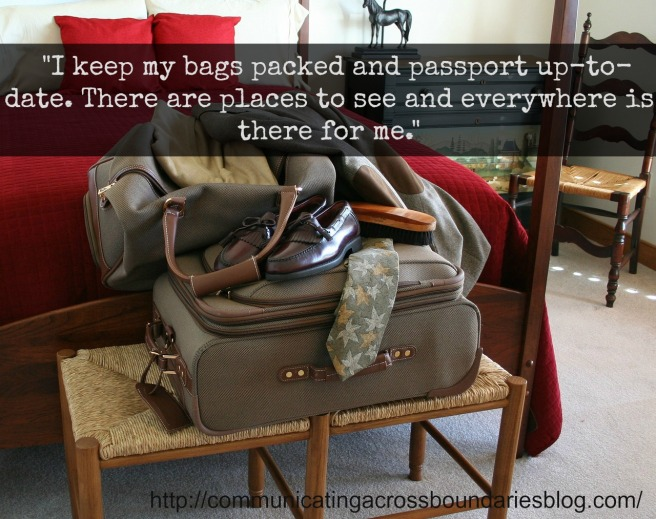 suitcase with quote