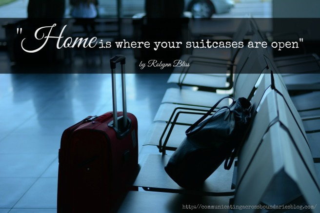 suitcases with quote