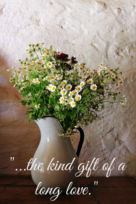 flowers with quote