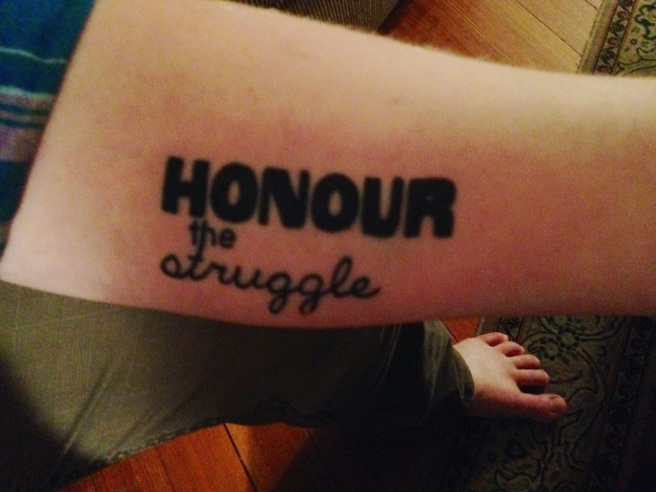 honour the struggle