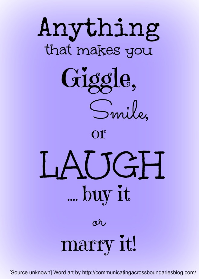 giggle smile laugh