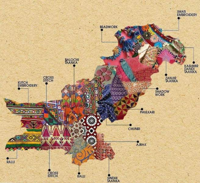 Fabric map of Pakistan